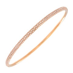Pave Diamond Gold Eternity Bangle