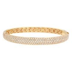 Pave Diamond Gold Eternity Bracelet