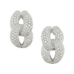 Linked Diamond Gold Earrings