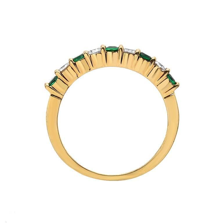 gemlok emerald gold band ring for sale at 1stdibs