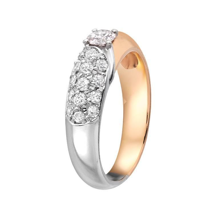 pink gold platinum ring for sale at 1stdibs