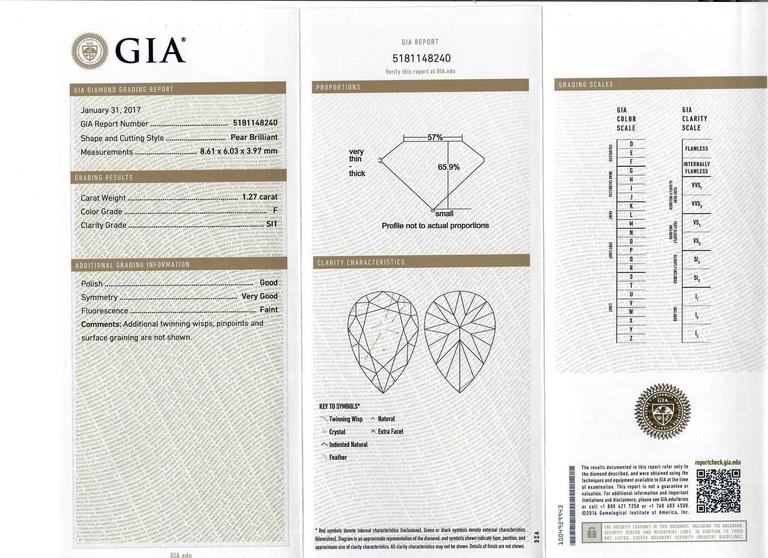 GIA Certified Diamond Sapphire Platinum Bypass Ring For Sale 5