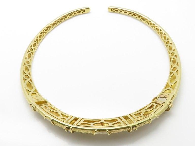 Van Cleef & Arpels Diamond Three Gold Necklace-Bracelet For Sale 1