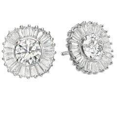 Ballerina austauschbar Diamant Rubin & Saphir Ohrringe Set, GIA-Zertifikat D / VVS1.