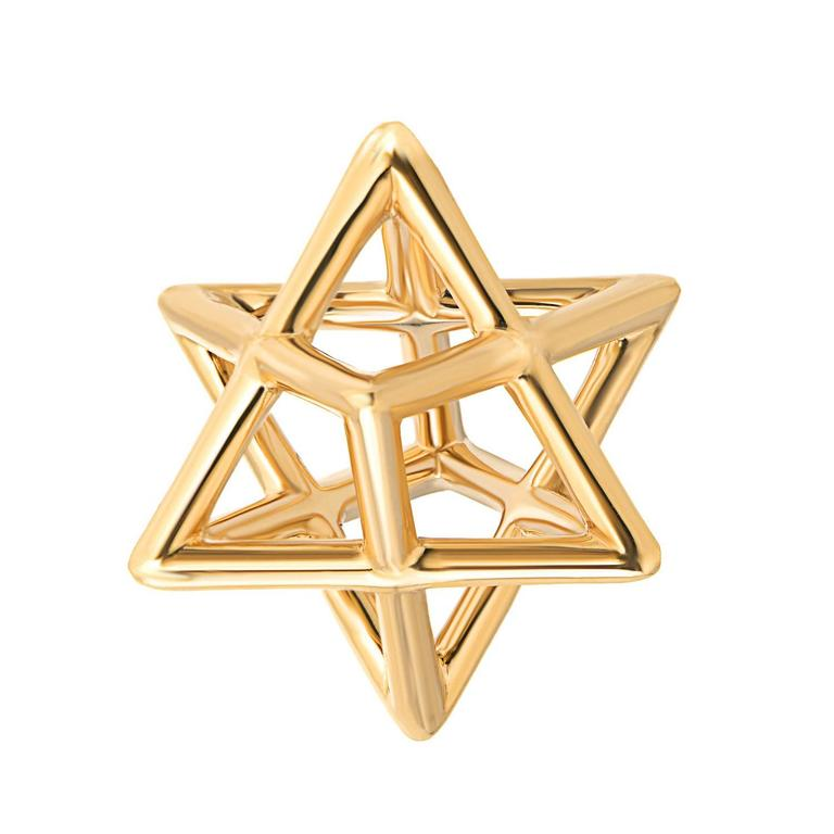 Merkaba unisex three dimensional star yellow gold pendant necklace merkaba unisex three dimensional star yellow gold pendant necklace for sale aloadofball Image collections