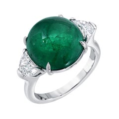 Emerald Colombia Diamond Platinum Ring