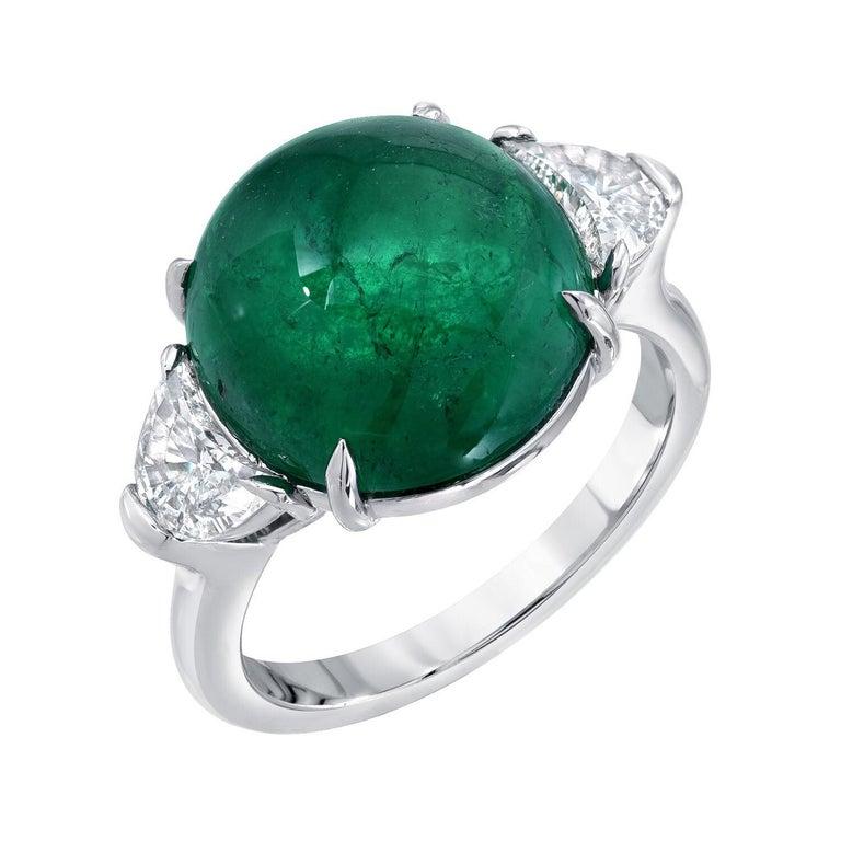 Emerald Colombia Diamond Platinum Ring