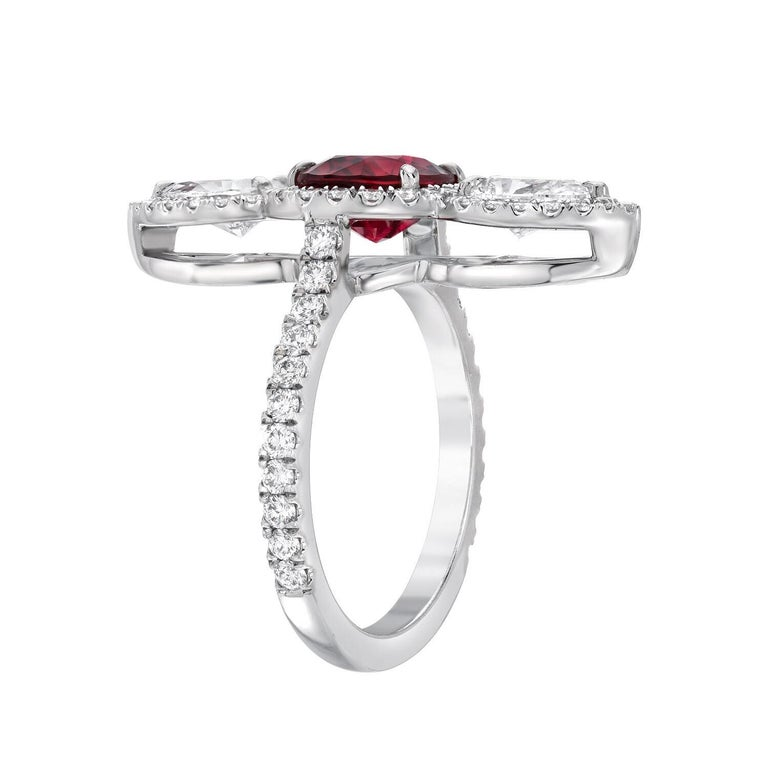 Unheated Ruby Ring 2.09 Carats AGL Certified In New Condition For Sale In Beverly Hills, CA