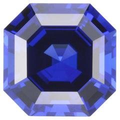 Tanzanite Ring Gem 8.23 Carat Asscher Cut Loose Gemstone