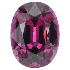 Royal Purple Garnet Ring Gem 14.24 Carat Unset Oval Loose Gemstone