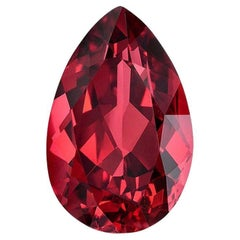 Red Spinel Ring Gem 2.96 Carat Pear Shape Mahenge Loose Gemstone