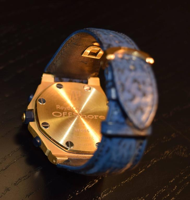 Audemars Piguet Royal Oak Offshore Yellow Gold Wristwatch In New Condition For Sale In Switzerland, CH