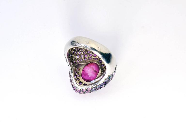 Art Deco Marion Jeantet Pink Ruby Ring  For Sale