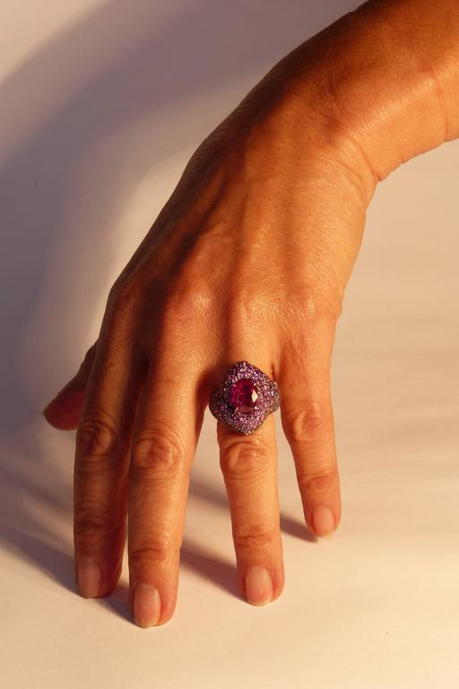 Marion Jeantet Pink Ruby Ring  In New Condition For Sale In Paris, FR