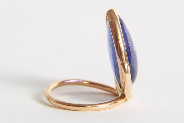Women's Tanzanite Cabochon Ring by Marion Jeantet