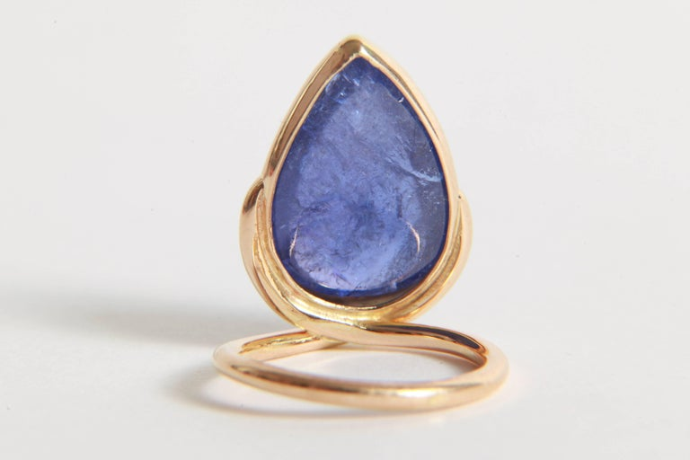 Tanzanite Cabochon Ring by Marion Jeantet 1
