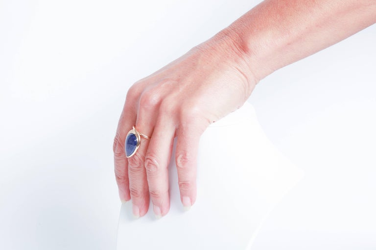Tanzanite Cabochon Ring by Marion Jeantet 2