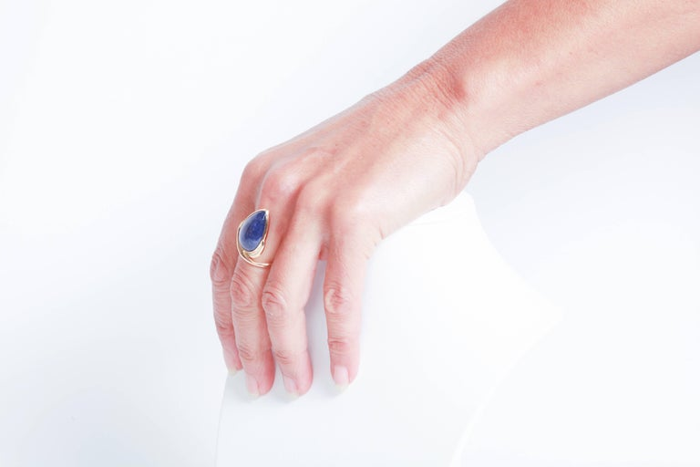 Tanzanite Cabochon Ring by Marion Jeantet 3