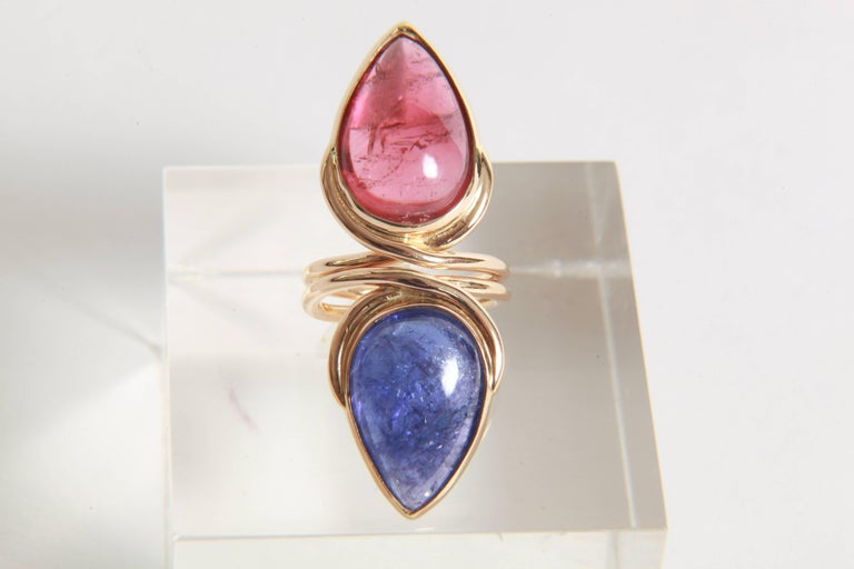 Tanzanite Cabochon Ring by Marion Jeantet 5