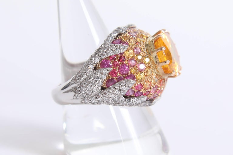 Baroque Revival Yellow Sapphire Ring by Marion Jeantet For Sale