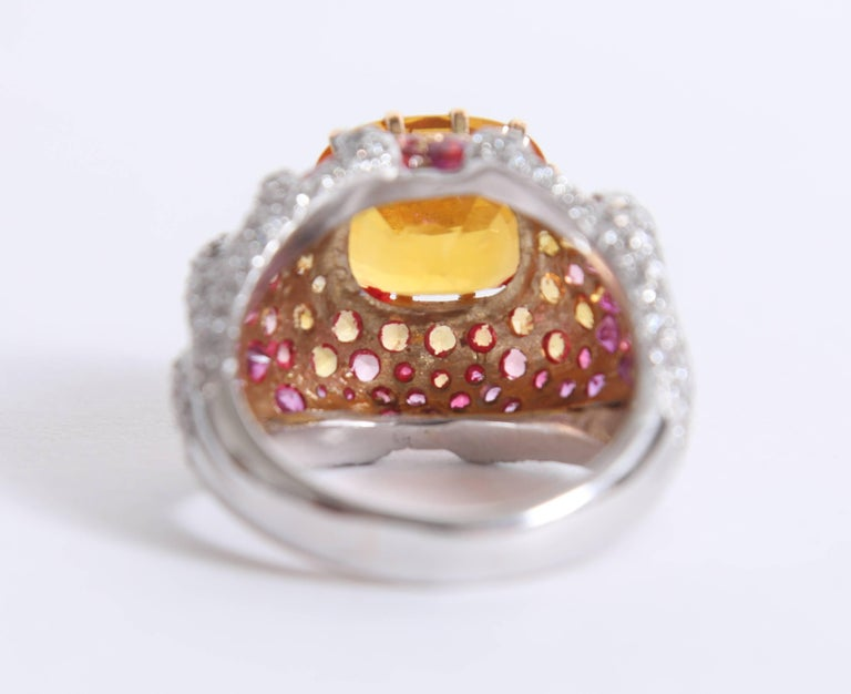 Yellow Sapphire Ring by Marion Jeantet In New Condition For Sale In Paris, FR