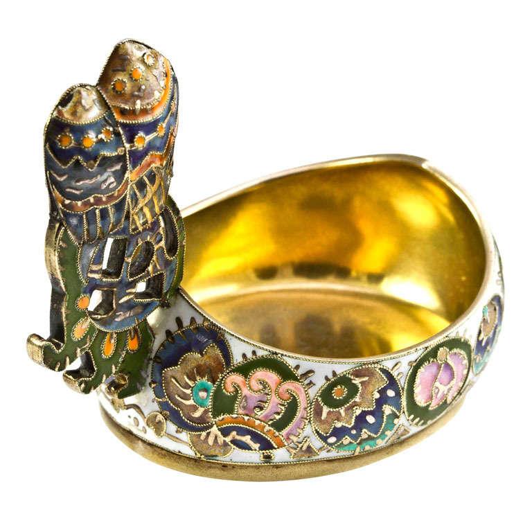 Fabergé Cloisonné Enamel Kovsh