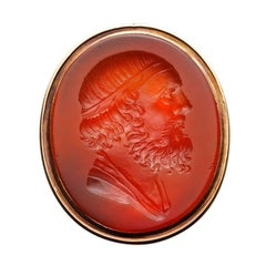 Georgian Carnelian Intaglio Gold Signet Ring
