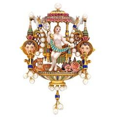 An Important Giuliano Renaissance-Revival Brooch