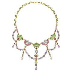 Giuliano Renaissance-Revival Ruby Sapphire Spinel Gold Enamel