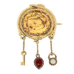 A Late Georgian Topaz Brooch