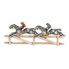 Double Horse and Jockey Brooch