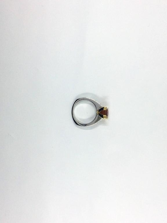 Garnet Diamond Gold Ring For Sale 3