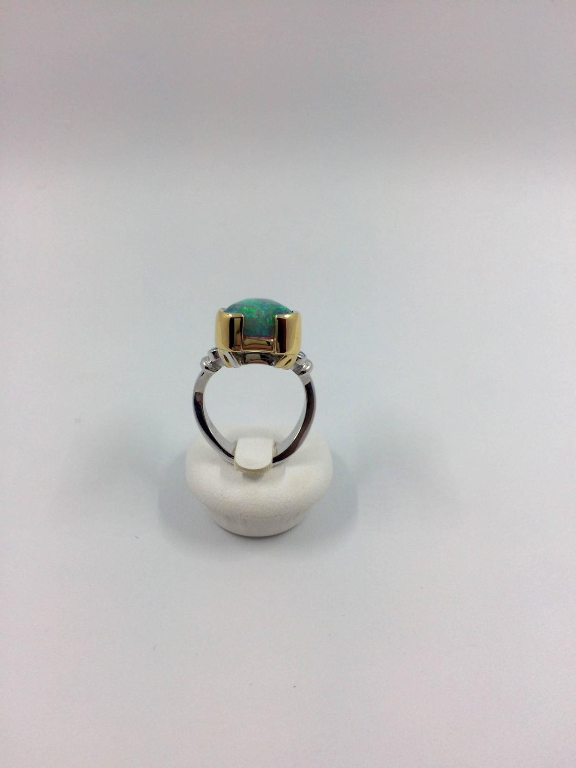 unique opal diamonds gold ring for sale at 1stdibs