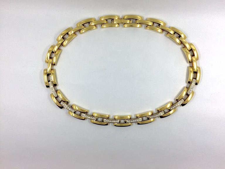 Diamond Gold Link Necklace 2