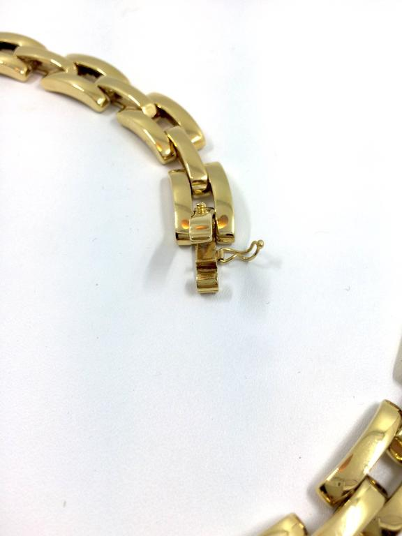 Diamond Gold Link Necklace 4