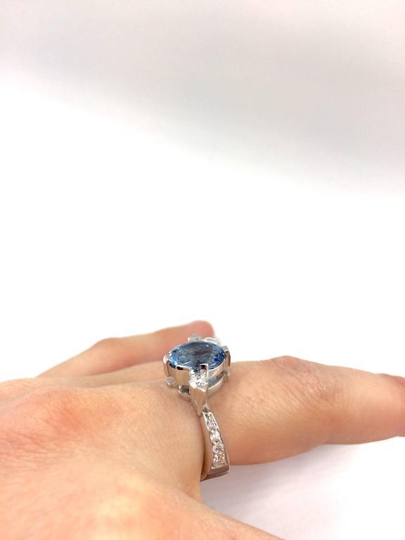G.Minner Aquamarine Diamonds Gold Ring For Sale 1