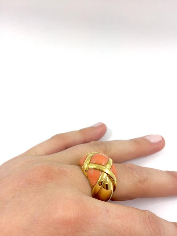 Women's Coral Gold Ring For Sale