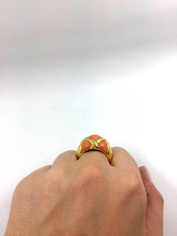 Coral Gold Ring For Sale 2
