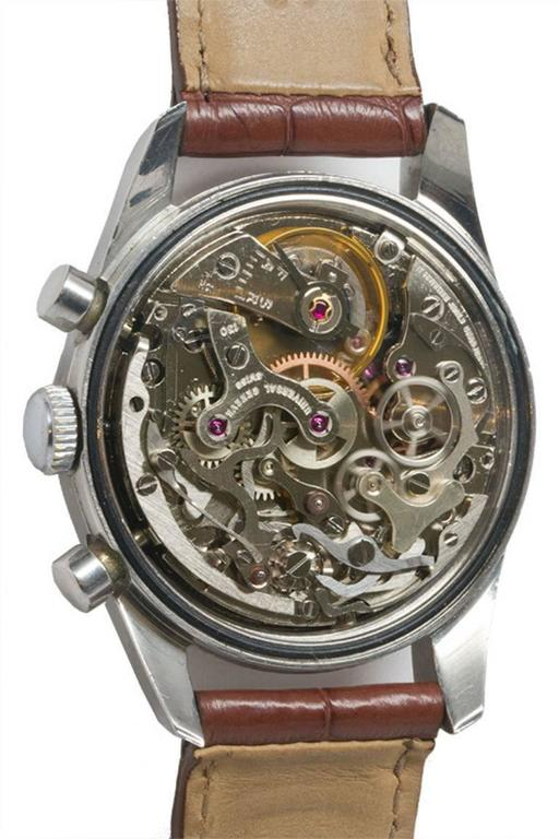 Universal Geneve Stainless Steel Doctors Pulsation Chronograph Manual Watch  For Sale 1
