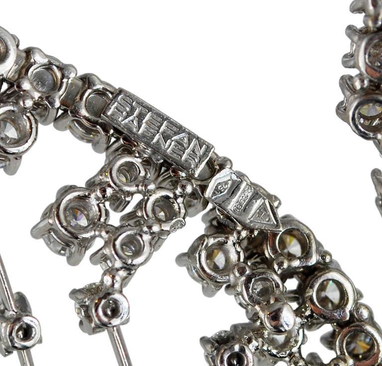 Stefan Hafner Diamond White Gold Waterfall Necklace Italian 9