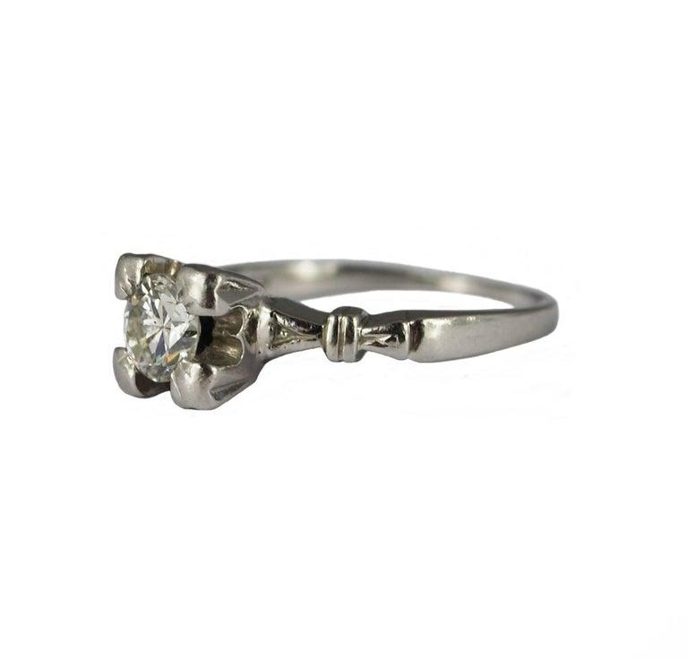 Art Deco Diamond Platinum Vintage Engagement Ring For Sale At 1stdibs