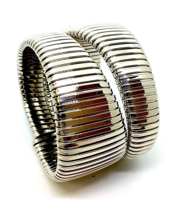 Carlo Weingrill Two-Color Gold Tubogas Cuff Bracelet 2