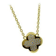 Van Cleef & Arpels Diamond Gold Alhambra Necklace