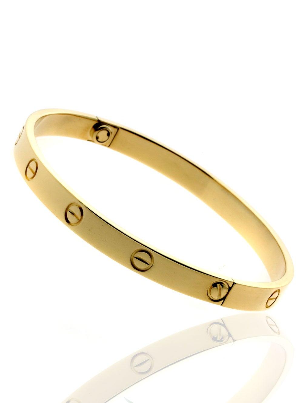 Cartier Love Gold Bangle Bracelet at 1stdibs