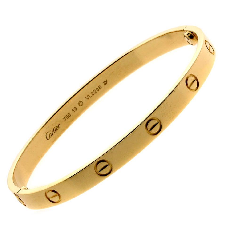cartier gold bangle bracelet