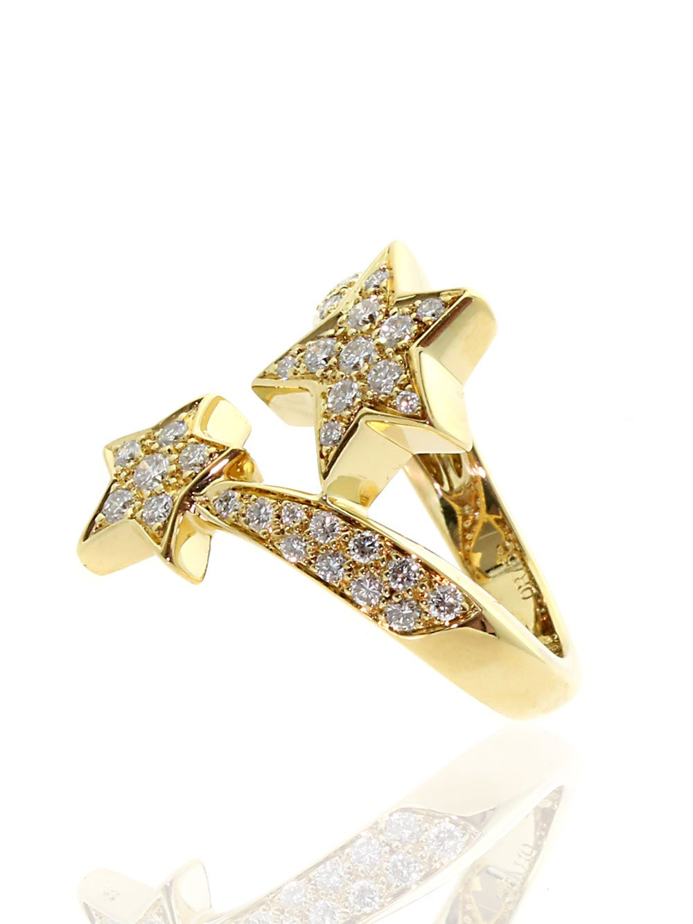 Modern Chanel Comete Diamond Gold Ring