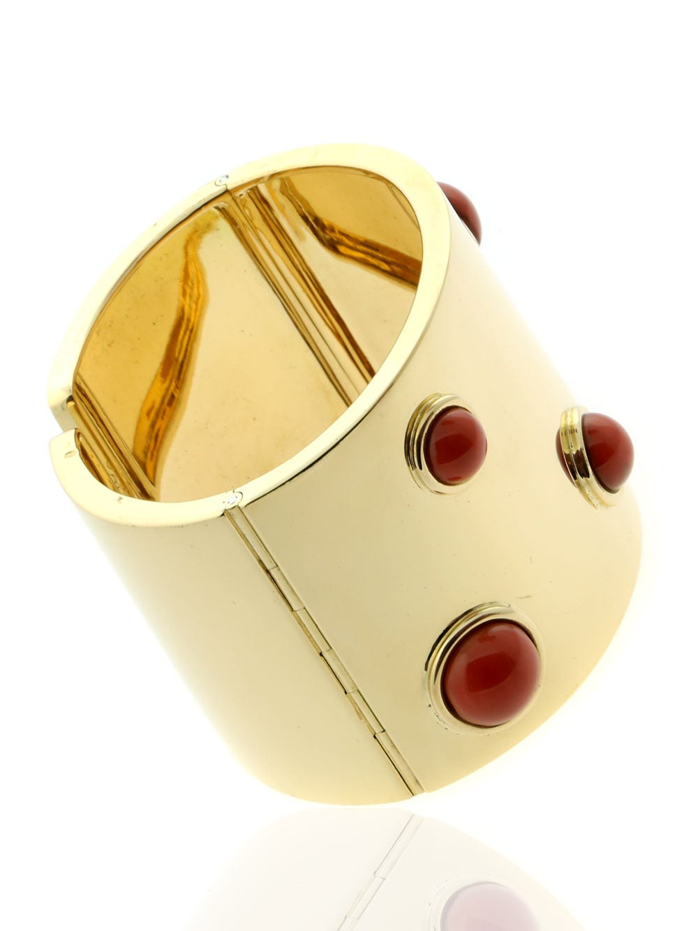 Fred of Paris Coral Gold Arm Cuff Bracelet  3
