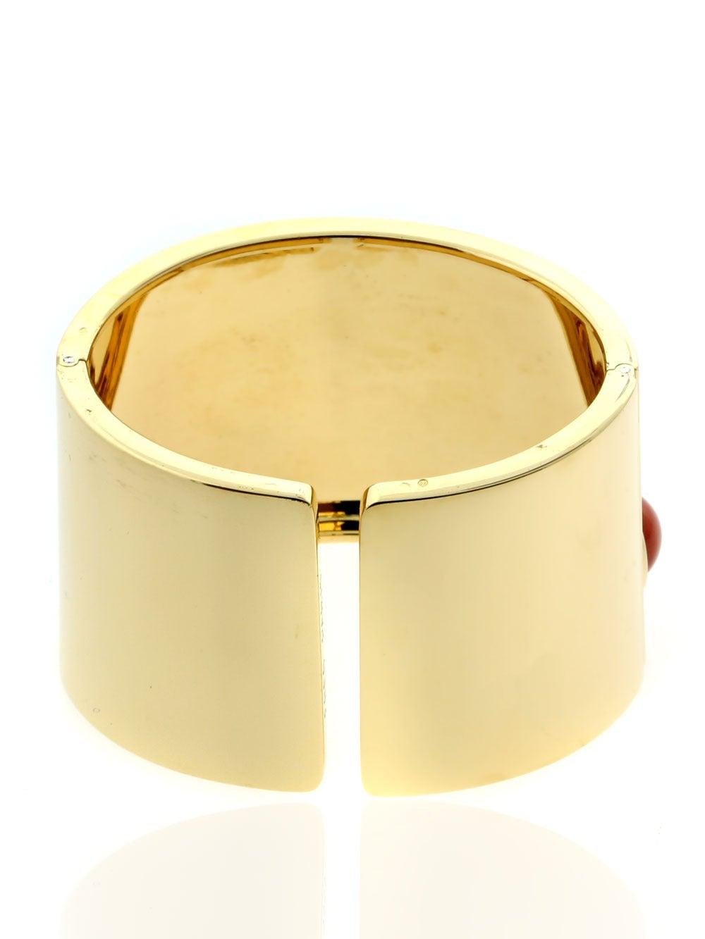 Fred of Paris Coral Gold Arm Cuff Bracelet  5