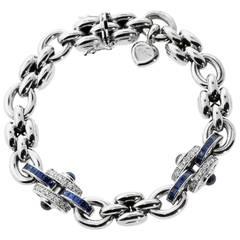 Chopard Sapphire Diamond Gold Charm Bracelet