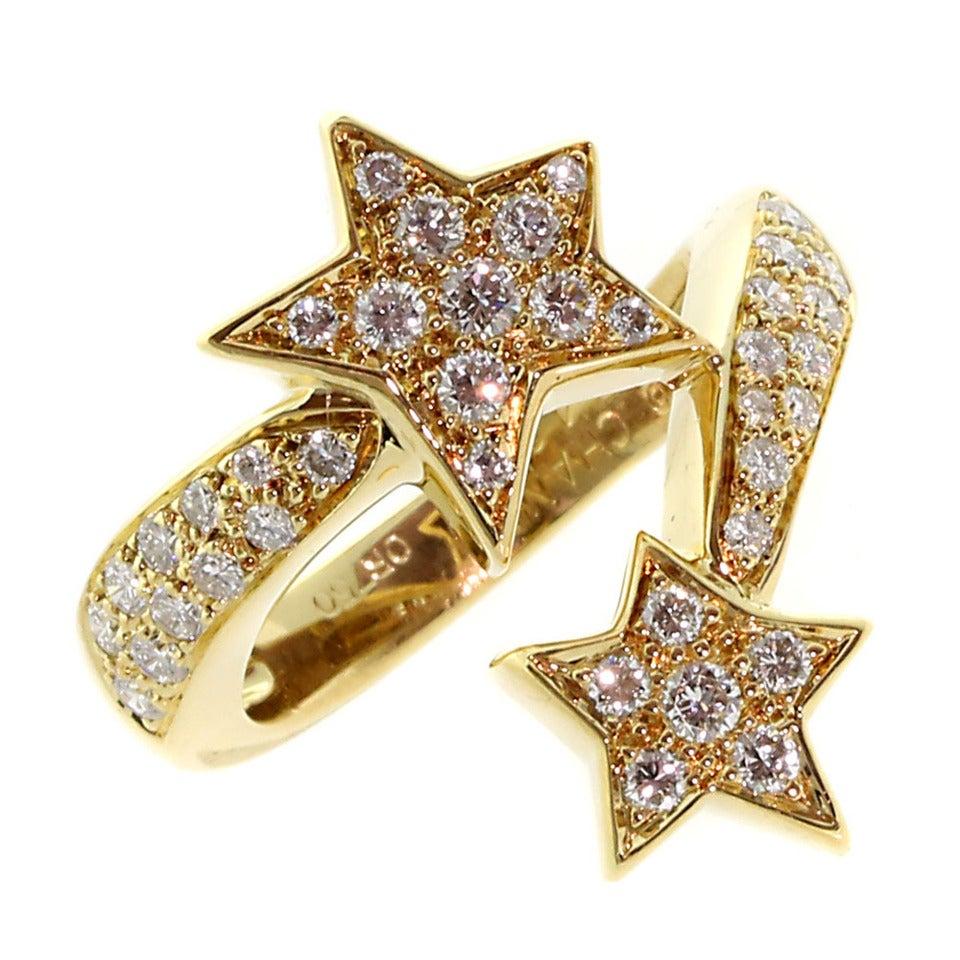 Chanel Comete Diamond Gold Ring